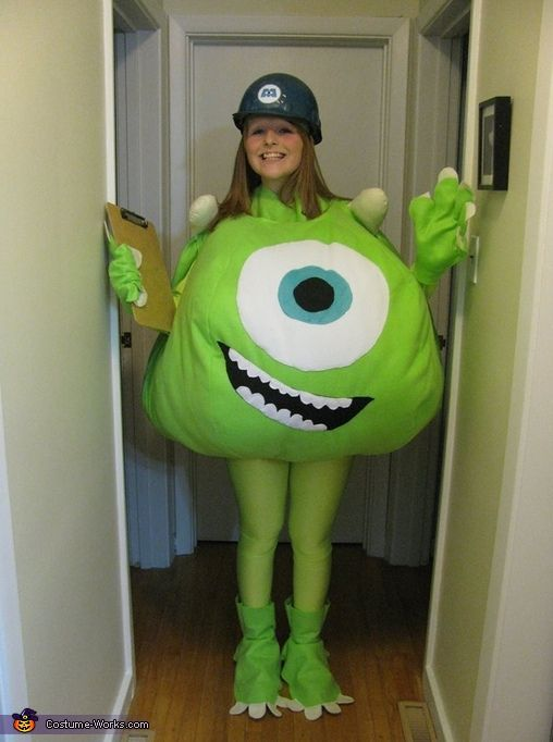 Laura: In the picture provided, I am wearing a homemade Mike Wazowski costume made by my mother. Inspired by the 2001 hit movie, Monsters Inc. Mike has always been my favourite...