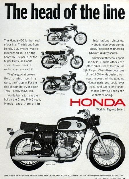 Honda CB450 ad