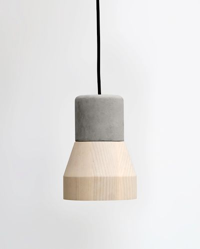 Cementwood lamp by thinkk studio