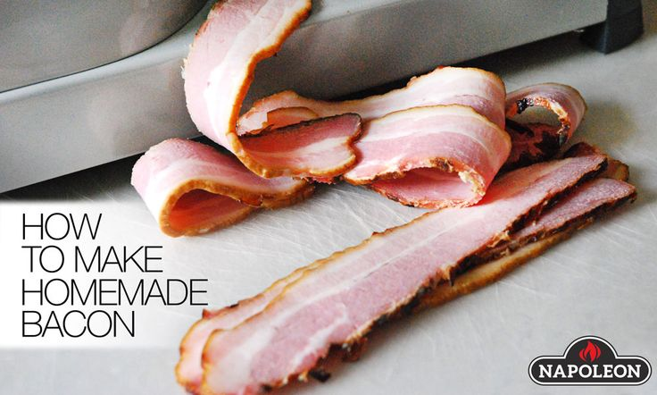 Making your own bacon is easy! All you need is a barbecue and a little patience. Make yourself some apple-wood smoked bacon, or maple bacon with this recipe.