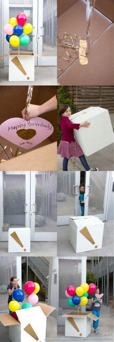 Diy Projects: Birthday Surprise Ballons Box DIY