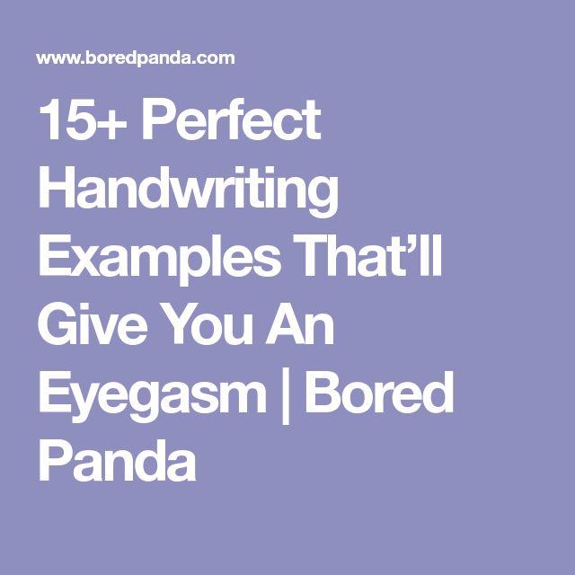 15+ Perfect Handwriting Examples That'll Give You An Eyegasm | Bored Panda