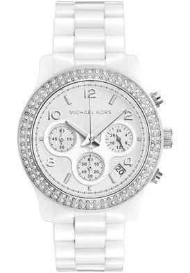 Michael Kors MK5188 Watches,Women's Chronograph White Crystal White Ceramic, Women's Michael Kors Quartz Watches