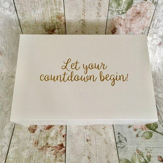Wedding Countdown Gift Box Kit Etsy In 2020 Countdown Gifts Wedding Countdown Presents For The Bride