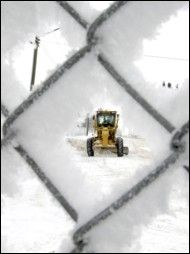 Town of Olds Public Works staff clear snow off the streets. Snow removal is always a big part of the municipal budget.