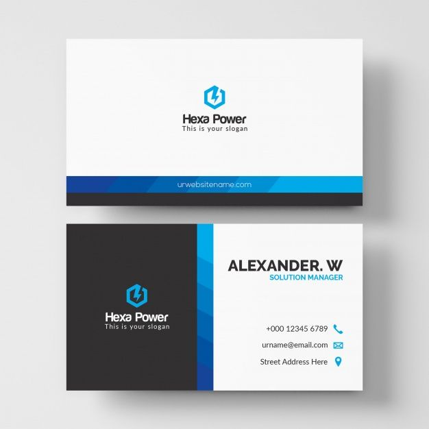 Modern White And Blue Business Card Mockup Business Card Mock Up Printing Business Cards Blue Business Card