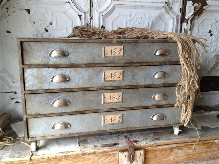 Rue Numbered Console: Rue Numbers, Farms House, Metals Drawers, Consoles Tables, Numbers Metals, Metals Consoles, Numbers Consoles, Bathroom Decoration,  Commod