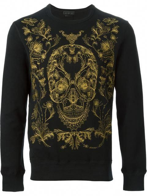 3341e1999 Explore unique men's sweatshirts from the world's most luxurious labels.  Alexander Mcqueen Embroidered Skull Sweatshirt - Stefania Mode - Farfetch.com  # ...
