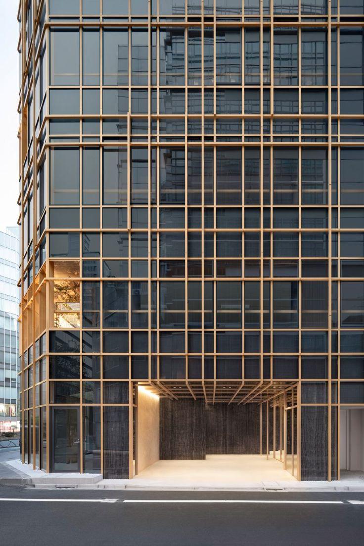 Nendo envolve grade de madeira em torno de varandas cheias de plantas do escritório japonês   – Fassaden
