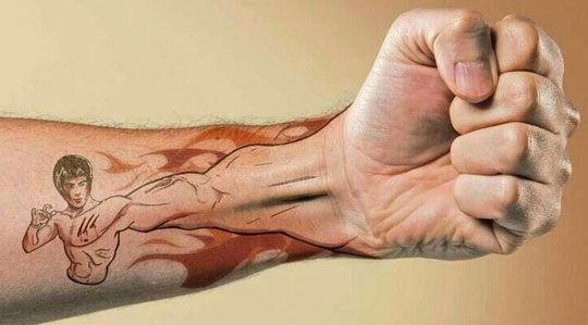 Great Bruce Lee Tattoo - The Meta Picture
