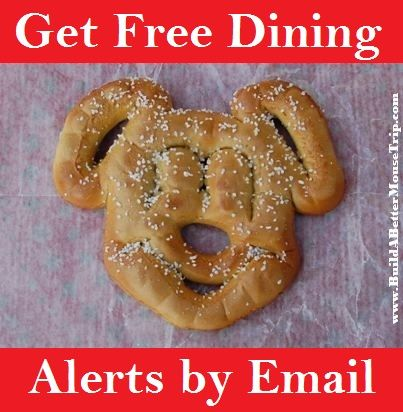 Disney World Free Dining Promotion - Get an email every time Disney releases a free dining promotion.