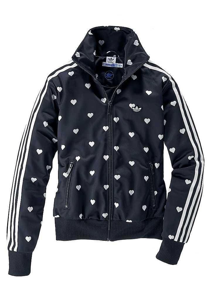 6039bc5d0ea Adidas Originals Heart Print Tracksuit Jacket   Ropa adidas   Adidas  tracksuit, Tracksuit jacket, Adidas