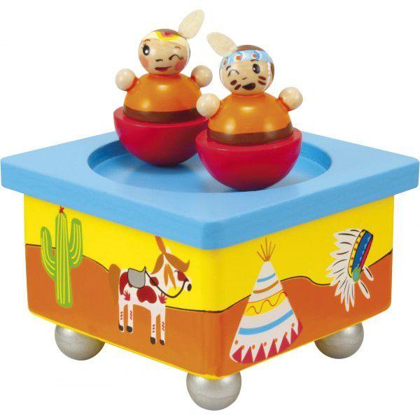 Indianen muziekdoosje / speeldoosje van het merk Ulysse.
