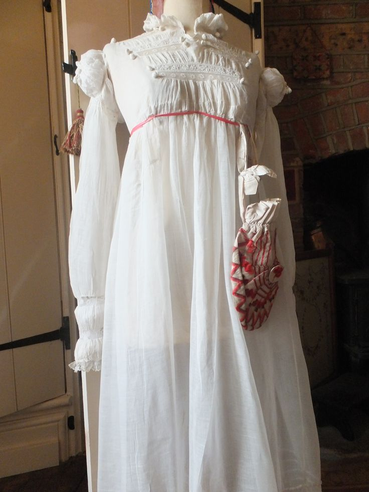 Regency gown & reticule at Poppies Cottage.com