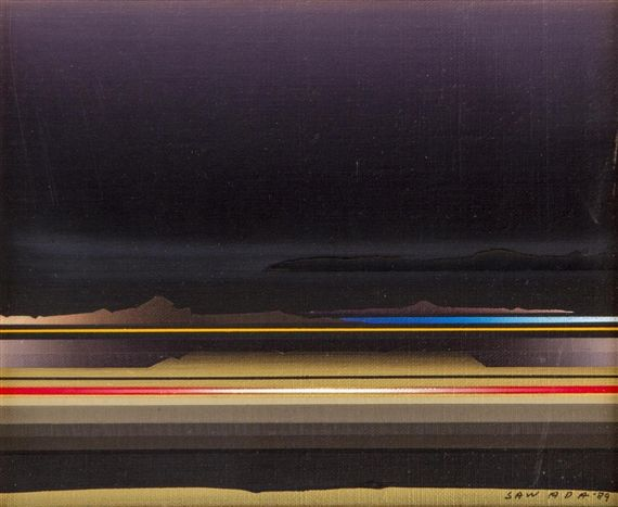 UNTITLED By Tetsuro Sawada 8.63 X 10.75 in (21.92 X 27.3 cm) Medium: oil on canvas Creation Date: 1989 Signed