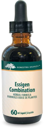 Essigen Combination by Genestra. Essigen Combo is a unique combination of synergistic herbs. Burdock root is traditionally used in Herbal Medicine as a diuretic, to induce sweating (diaphoretic), as an alternative to help remove accumulated waste products via the kidneys, skin and mucus membranes, and to help alleviate the pain associated with rheumatism.Professional Supplements VitaminOn