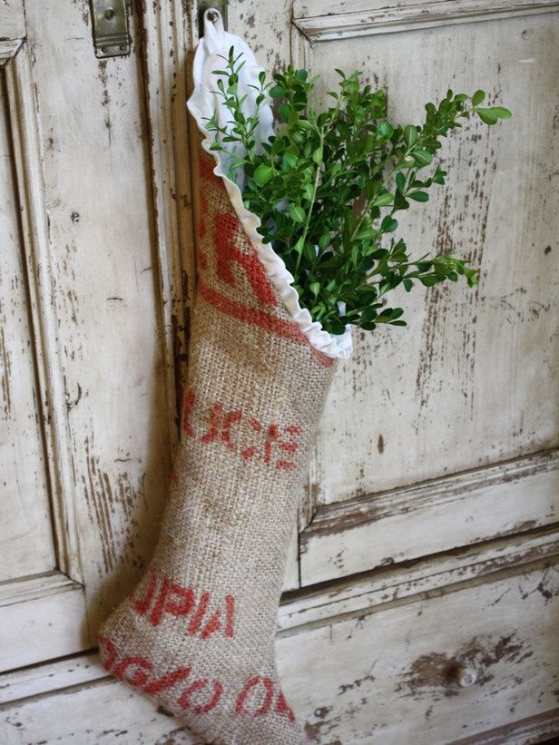 burlap-- get some coffee bags from sleepy monk