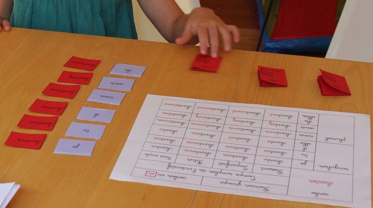 montessori un tout petit peu: Petits verbes rouges