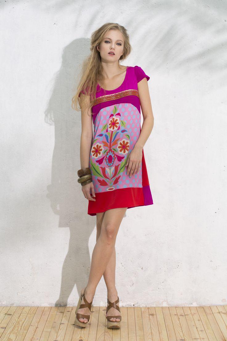 Vestido Chiapas #pinkdress #vestidorosa #vestidoflores #estampado
