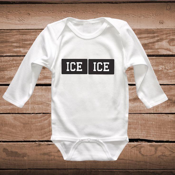 Ice Ice Baby Cute Onesie or Bib _ Cute Tee Tees _ Funny Onesies _ Baby Clever Tshirts _ Funny Baby Sayings _ Unique Onesies _ Prime Decals
