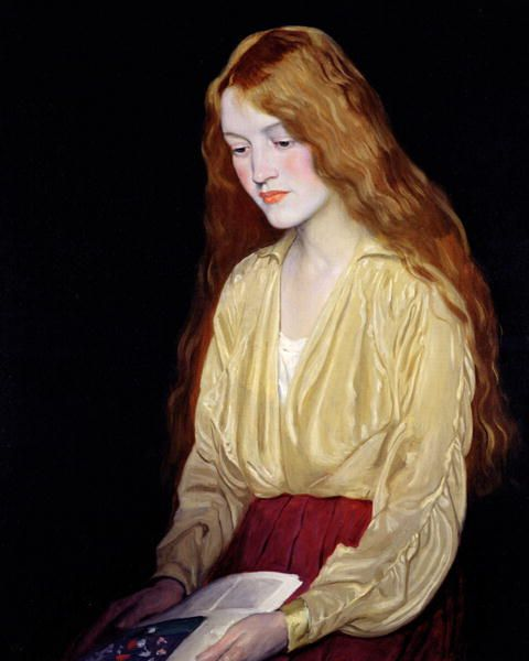 ✉ Biblio Beauties ✉ paintings of women reading letters & books - William Strang : Cynthia