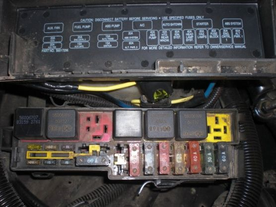 1992 Jeep Wrangler Fuse Box Diagram  1