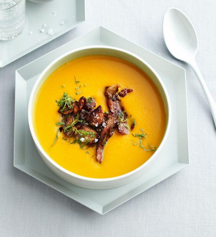 Rezept für Limetten-Süßkartoffel-Suppe bei Essen und Trinken. Und weitere Rezepte in den Kategorien Geflügel, Gewürze, Kartoffeln, Kräuter, Nüsse, Schwein, Vorspeise, Hauptspeise, Suppen / Eintöpfe, Braten, Kochen, Einfach, Gut vorzubereiten.