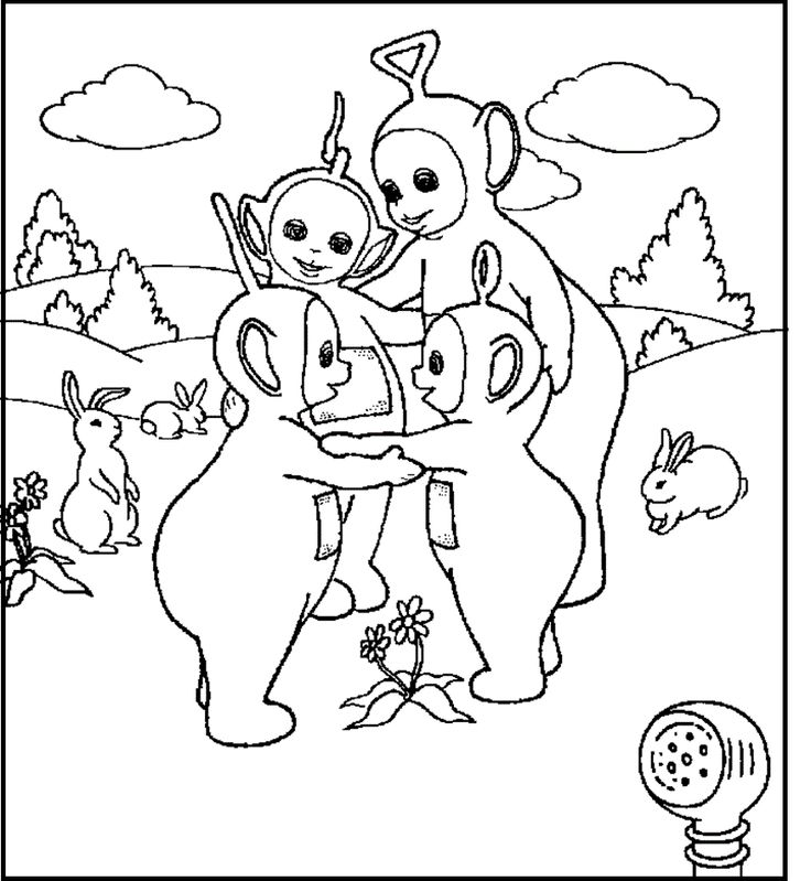 21 best teletubbies images on Pinterest | Coloring books, Colouring ...