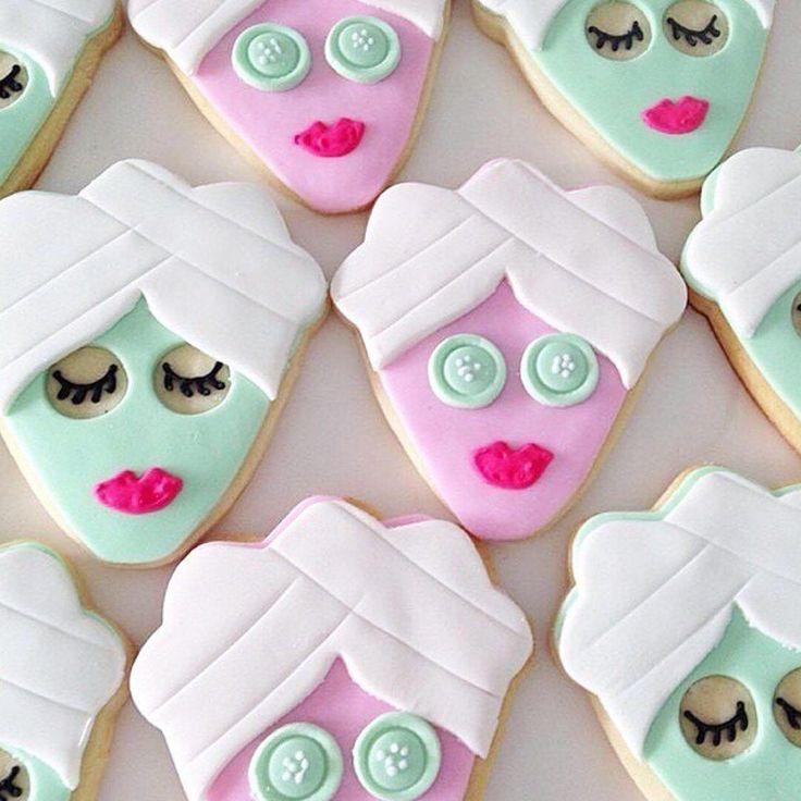 Sundays = spa days. Cutest (#bachelorette party) cookies ever!  Regram via: @studioDIY