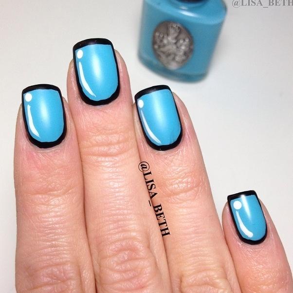 Cartoon Nails! Inspired By @cutepolish #NailSpotting