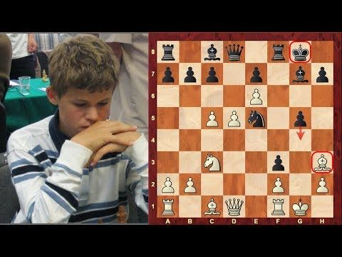 ChessWorld Chess Video - Magnus Carlsen's amazing double bishop sacrifice Mikhail Tal like chess game at the age of 12!