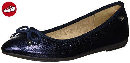 XTI Damen Metallic Ladies Shoes Geschlossene Ballerinas, Blau (Navy), 40 EU (*Partner-Link)