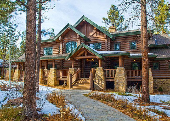 Дом из бревен большого диаметра | Деревянные дома ручной рубки | Журнал «Деревянные дома»