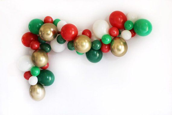 Christmas Balloon Garland Kit Holiday Party Decor Ugly Sweater