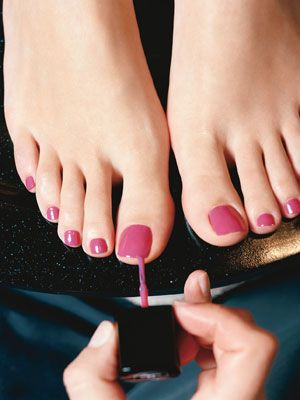 Our Favorite Pedicure Colors Now: Daily Beauty Reporter : Why, hello there, open-toe season! (We thought you'd never come.) After what felt like a never-ending streak of cold weather, leggings, and boots, this week marked the big unveiling of our toes (yay!). I prepped by getting an Easter-egg-inspired pedicure...