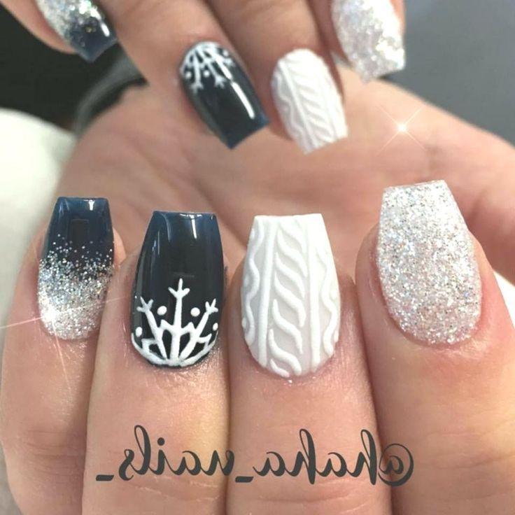Sparkly Acrylic Nails Square Der Winter kommt und ich habe 37 Ideen fü …   – Winter