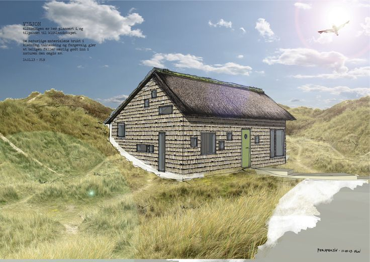 Sketchy rendering of the expandable and affordable low-impact home, made for my Fanø-project in 2012. It's fairly small, but sensible and effectively houses 2-3 persons with a 56,3 m2 footprint, and up to 6 persons with one or two extending tiny buildings containing bedrooms, office and livingroom-functions.