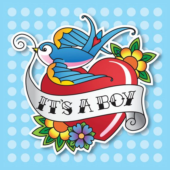 Vintage, rockabilly style Its A Boy new baby card.    This card is Blank inside. It measures 148x148mm and comes with a white envelope. Printed