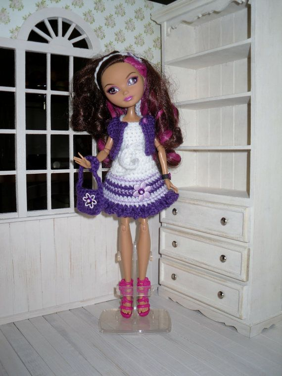 Set for Monster High and Ever After High - dress, headband, bag, bolero