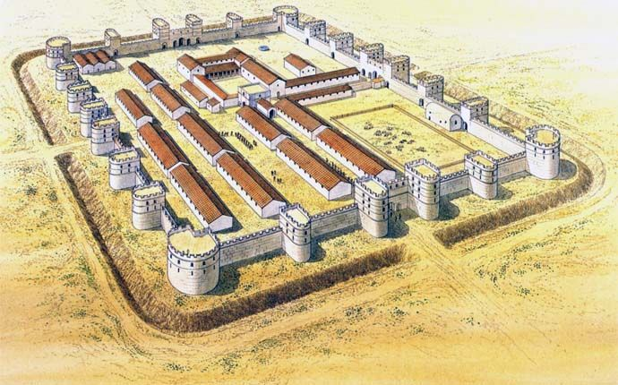 Campbell D.B., Roman Roman Legionary fortresses 27 BC – AD 378. Fortress Series 43. Osprey Military Publishing, 2007. p. 63.