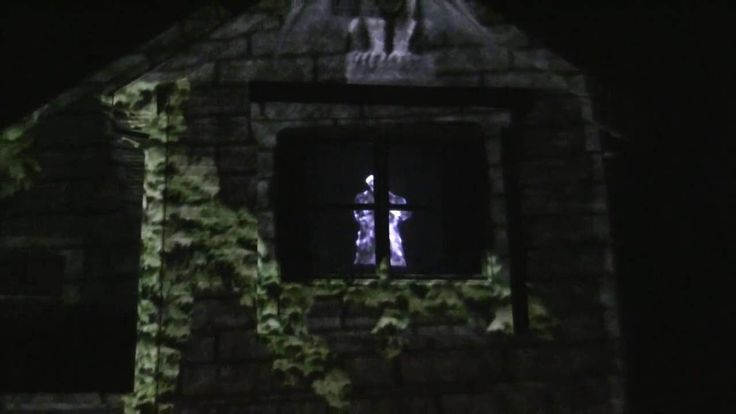2015 Halloween House Haunt Projector projection mapping with Atmosfear FX