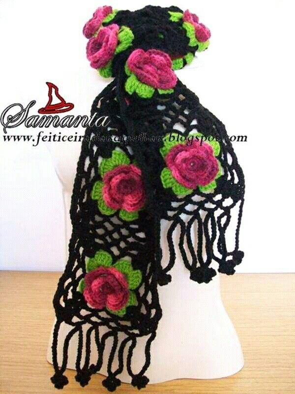 Negra con flores