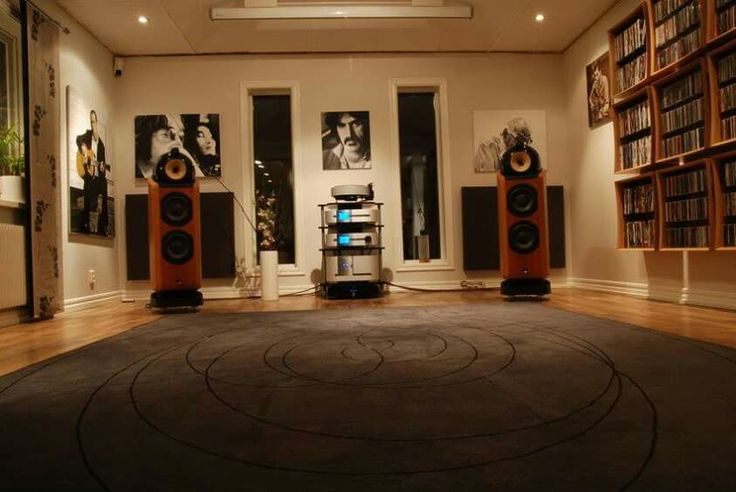 Living Room Design With Sound System