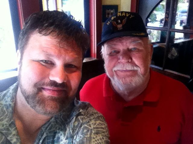 """Lunch at """"On The Border"""" in Duluth, Georgia with my Dad celebrating his 80th Birthday. - August 7, 2014"""