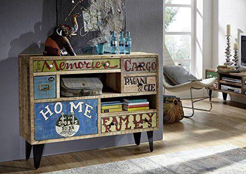 Legno di Mango Ferro Mobili in legno massello in legno massello stile industriale Tavolino da salotto 120x60 massiccio mobili Legno massello verniciato Mango multicolore Liverpool #32: Amazon.it: Casa e cucina
