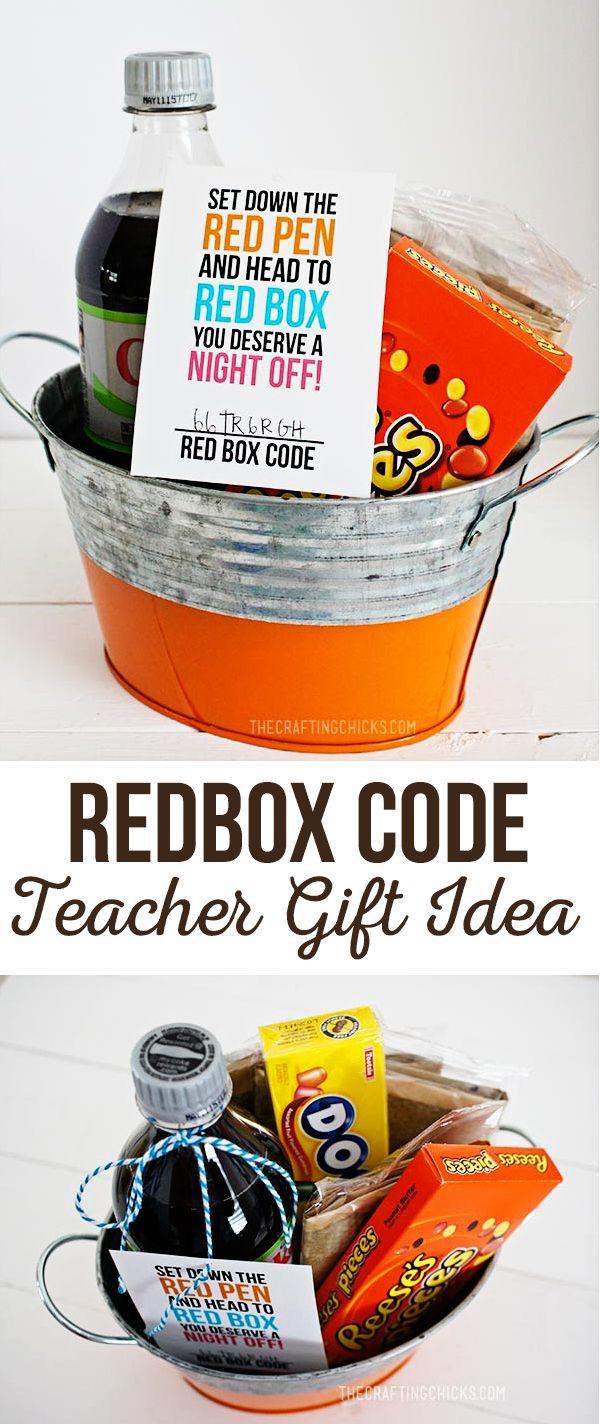 Redbox Gift Code Teacher Appreciation Gift Idea