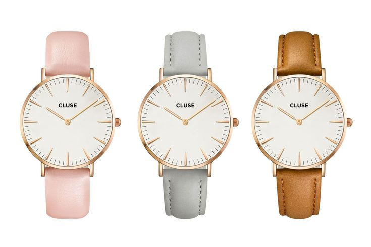 cluse watches in different colours