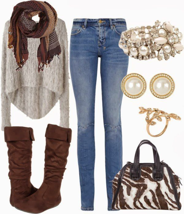 Chic Winter Outfit Idea for Young Women via ...: