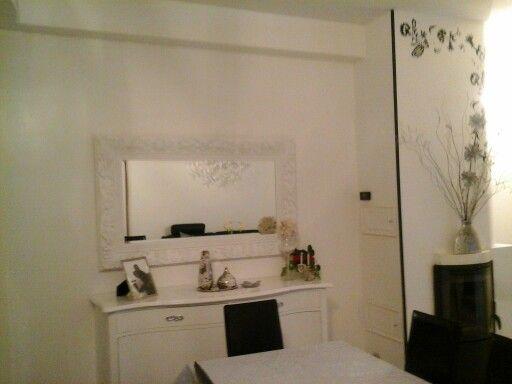 Specchio barocco bianco