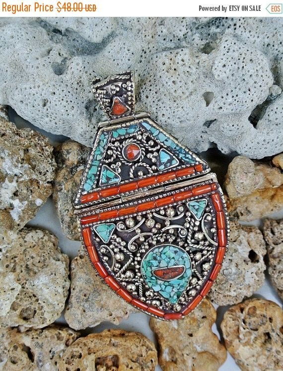 AFTER CHRISTMAS CLEARANCE Tibetan Pendant by SmallWorldofTreasure